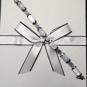 Jewelry - Beautiful Jade & Opal Bracelet w/Asian Inscription